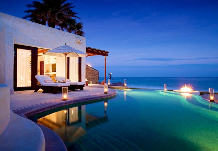 beautifully-lit-pool-at-night